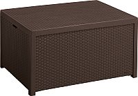 Сундук уличный Keter Arica Rattan Storage Table / 221043 (коричневый) -