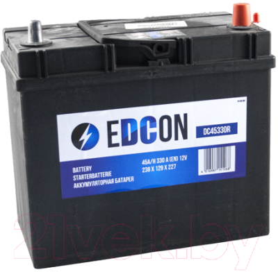 Автомобильный аккумулятор Edcon DC45330R