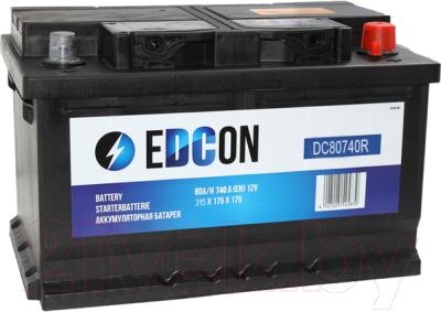 Автомобильный аккумулятор Edcon DC80740R