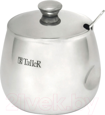 Сахарница TalleR TR-1122 сахарница с ложкой одри 0 33 кг tr 1123 taller