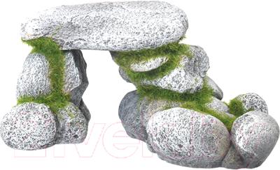Декорация для аквариума Rosewood Каменистый грот со мхом / 911758/RW