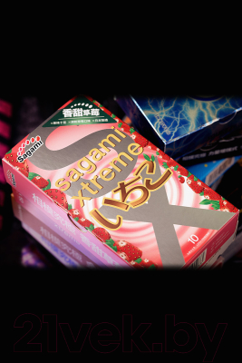 Презервативы Sagami Xtreme Strawberry №10 / 730/1