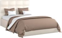Полуторная кровать Sofos Вена тип A с ПМ 140x200 (Teos Milk) -