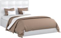Полуторная кровать Sofos Вена тип A с ПМ 140x200 (Teos White) -