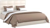 Двуспальная кровать Sofos Вена тип A с ПМ 160x200 (Teos Milk) -