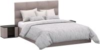 Двуспальная кровать Sofos Вена тип A с ПМ 160x200 (Verso Pebble) -
