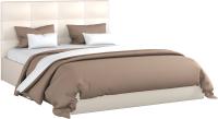 Двуспальная кровать Sofos Вена тип A с ПМ 180x200 (Marvel Pearl Shell) -