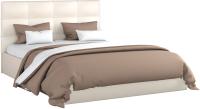 Двуспальная кровать Sofos Вена тип A с ПМ 180x200 (Teos Milk) -