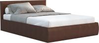 Полуторная кровать Sofos Верона тип A с ПМ 140x200 (Teos Dark Brown) -