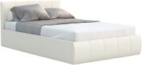 Полуторная кровать Sofos Верона тип A с ПМ 140x200 (Teos Milk) -