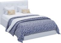 Полуторная кровать Sofos Женева тип A с ПМ 140x200 (Teos White/пуговицы) -