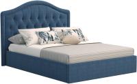 Полуторная кровать Sofos Элизабет тип A с ПМ 140x200 (Lecco Ocean/пуговицы) -