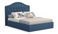 Полуторная кровать Sofos Элизабет тип A с ПМ 140x200 (Lecco Ocean/стразы) -