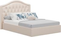 Полуторная кровать Sofos Элизабет тип A с ПМ 140x200 (Marvel Pearl Shell/стразы) -