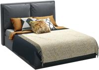 Полуторная кровать Sofos Эмилия тип A с ПМ 140x200 (Atlanta Grafit) -