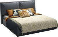 Двуспальная кровать Sofos Эмилия тип A с ПМ 180x200 (Atlanta Grafit) -