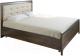 Полуторная кровать Лером Карина КР-2032-АТ 140x200 (акация молдау) -