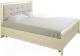 Полуторная кровать Лером Карина КР-2032-АС 140x200 (ясень асахи) -