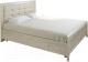 Полуторная кровать Лером Карина КР-2032-ГС 140x200 (гикори джексон светлый) -