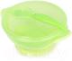 Тарелка для кормления Happy Care На присоске с крышкой и ложкой / 0611 (зеленый) -
