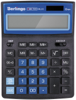 Калькулятор Berlingo City Style CIB 212 (черный/синий) -