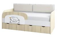 Кровать-тахта Аквилон Кот №800.4 (туя светлая) -