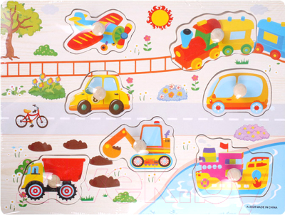 Развивающая игрушка Darvish Вкладыши. Транспорт / DV-T-2398
