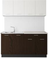 Готовая кухня Артём-Мебель Лана СН-113 без стекла 1.4 (сосна арктическая/венге) -