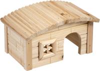 Домик для животных Duvo Plus Дом с окошком / 10253/DV (деревянный) -