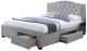 Двуспальная кровать Signal Electra 160x200 (серый) -