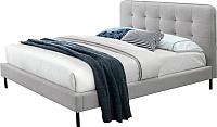 Двуспальная кровать Signal Sally 160x200 (серый) -