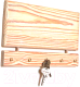 Ключница настенная Yulisa Деревянная маленькая (белый) -