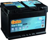 Автомобильный аккумулятор Centra AGM R+ / CK700 (70 А/ч) -