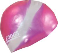 Шапочка для плавания Zoggs Silicone Cap Multi Colour / 306603 (розовый/серебристый) -