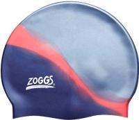 Шапочка для плавания Zoggs Multi Colour Cap / 300603 (серебристый/синий) -