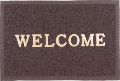 Коврик грязезащитный SunStep Spongy Welcome 50x80 / 38-442 (коричневый)