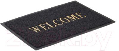Коврик грязезащитный SunStep Spongy Welcome 50x80 / 38-443 (черный)