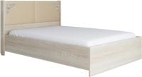 Двуспальная кровать Аквилон Сан-Ремо №16 ПМ (сонома светлый/ирис) -
