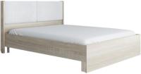 Двуспальная кровать Аквилон Сан-Ремо №16 ПМ (сонома светлый/белый) -