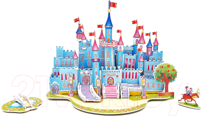 Кукольный домик Darvish Голубой дворец 589-I / DV-T-2180-I