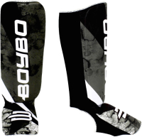 Защита голень-стопа BoyBo Black Flame (XS, черный) -