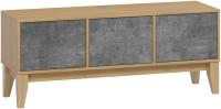 Тумба Woodcraft Гарленд №3 (дуб сантана золотистый/камень темный) -