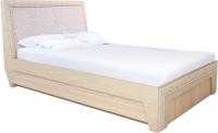 Полуторная кровать Аквилон Калипсо №14ПМ (туя светлая) -