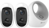 Комплект видеонаблюдения Ezviz W2D + 2 камеры C3A -