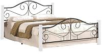 Двуспальная кровать Halmar Violetta 160x200 (белый/черный) -