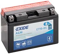 Мотоаккумулятор Exide ET9B-BS (8 А/ч) -