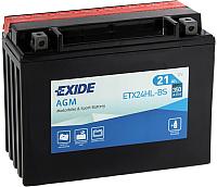 Мотоаккумулятор Exide ETX24HL-BS (21 А/ч) -