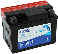 Мотоаккумулятор Exide ETX4L-BS (3 А/ч) -