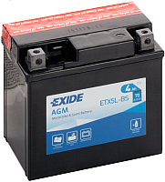 Мотоаккумулятор Exide ETX5L-BS (4 А/ч) -