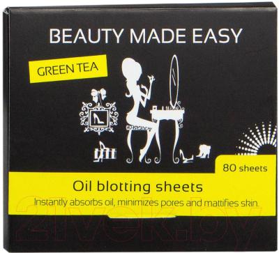 Матирующие салфетки для лица Beauty Made Easy С экстрактом зеленого чая (80шт)